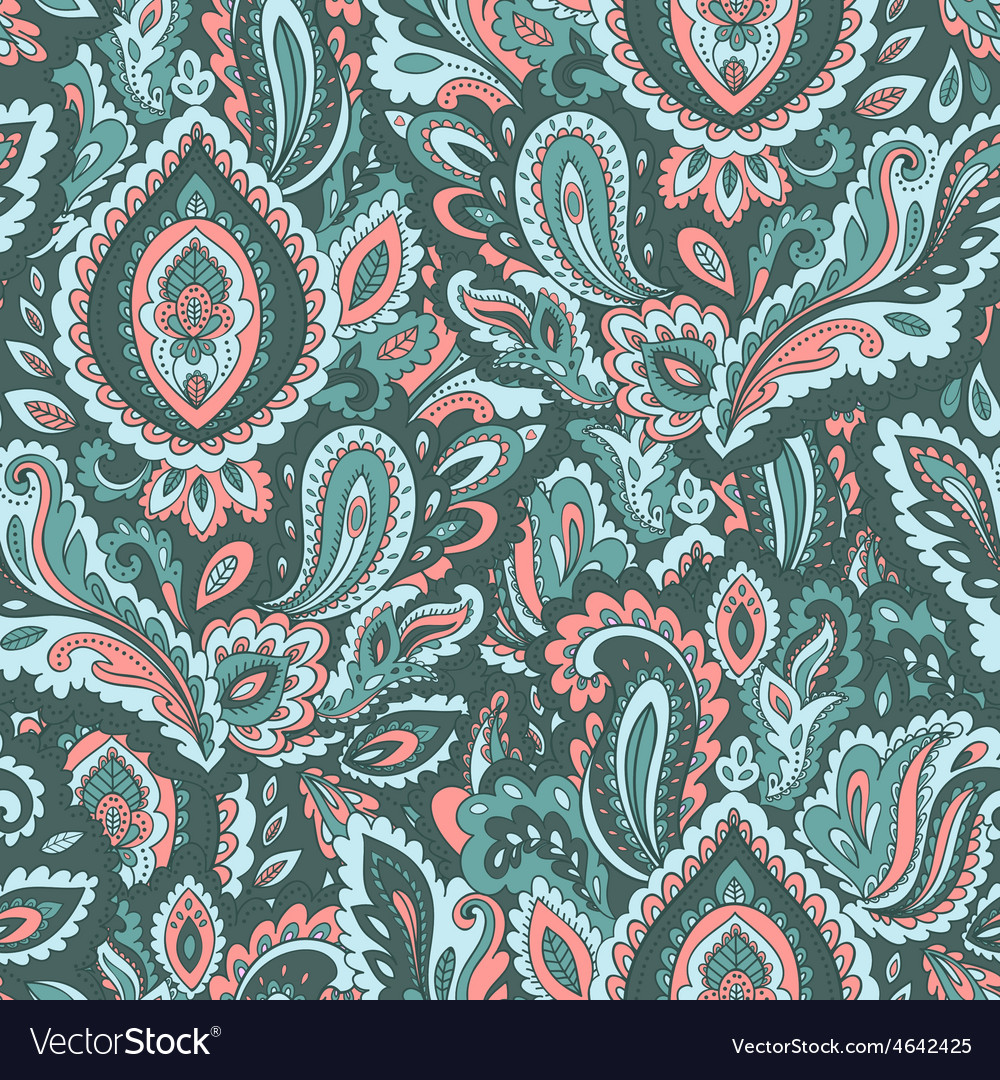 Beautiful floral leaf seamless pattern vector | Price: 1 Credit (USD $1)
