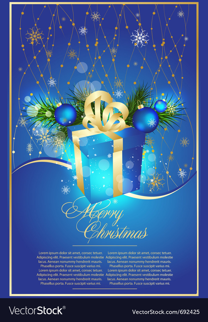 Blue xmas vector | Price: 1 Credit (USD $1)
