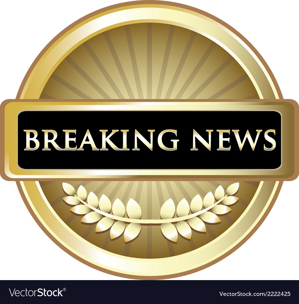 Breaking news vintage label vector | Price: 1 Credit (USD $1)