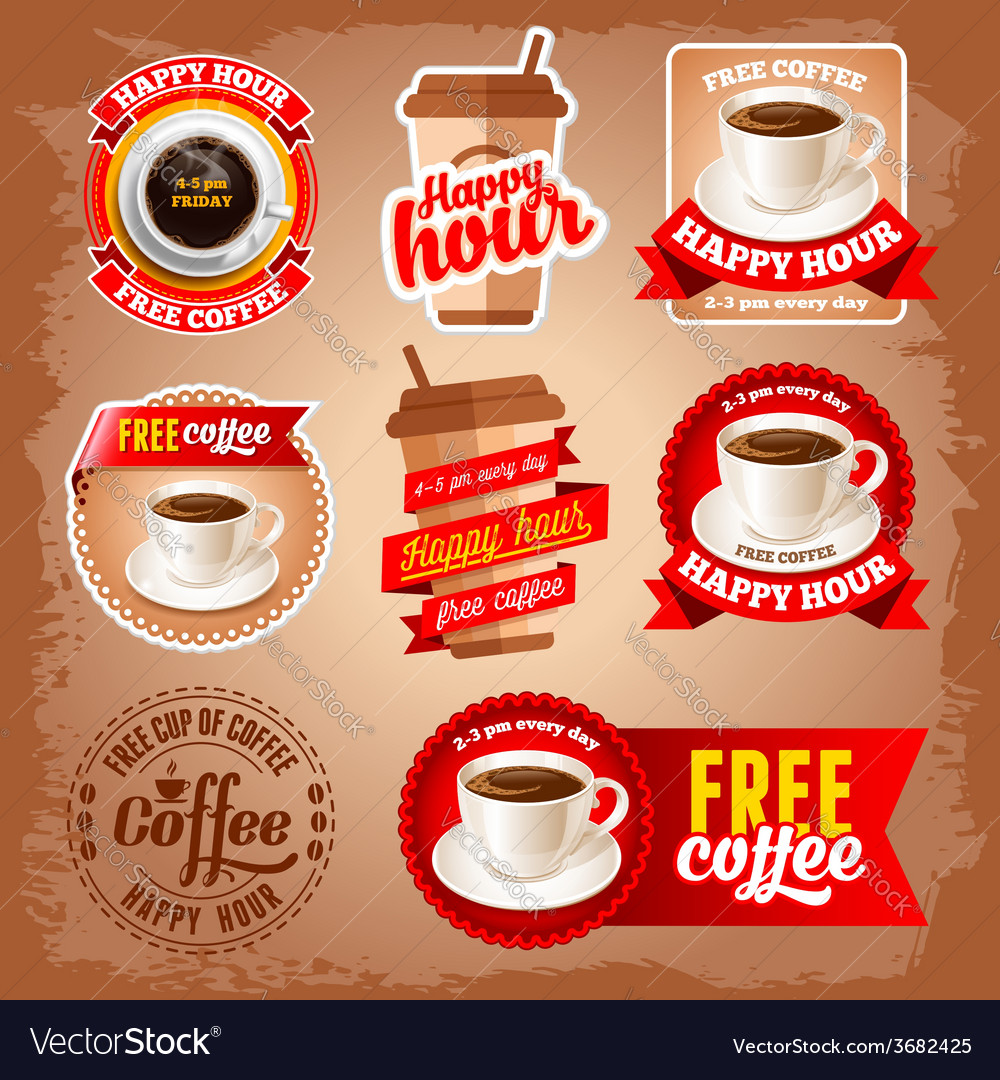 Free coffee vector | Price: 3 Credit (USD $3)