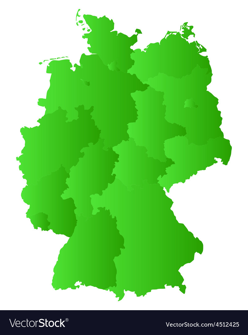 Map of germany vector | Price: 1 Credit (USD $1)