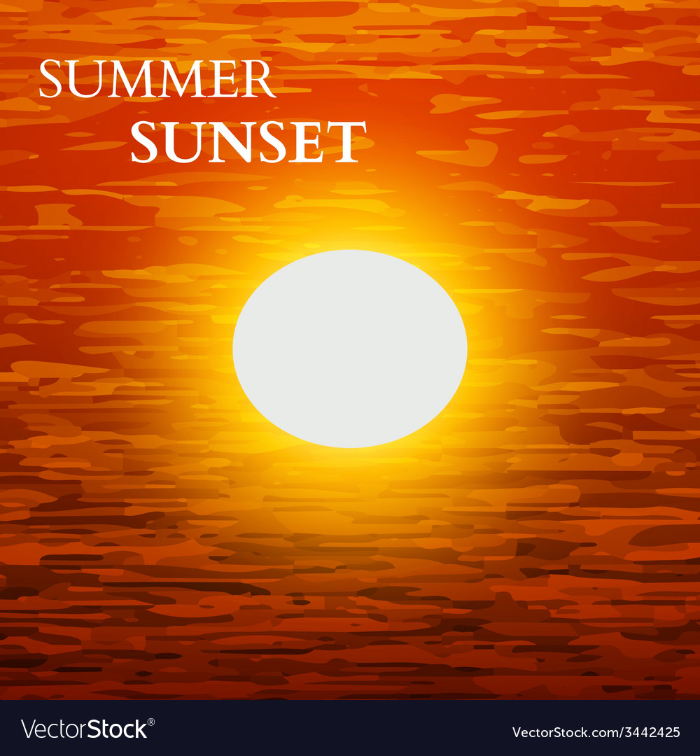 Summer sunset background vector | Price: 1 Credit (USD $1)