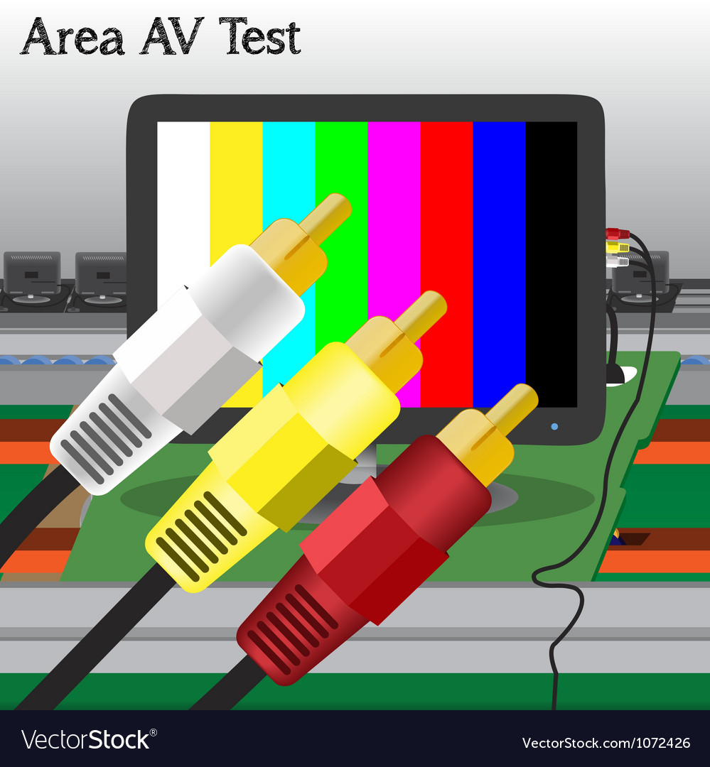 Av signal test in process production television vector | Price: 1 Credit (USD $1)