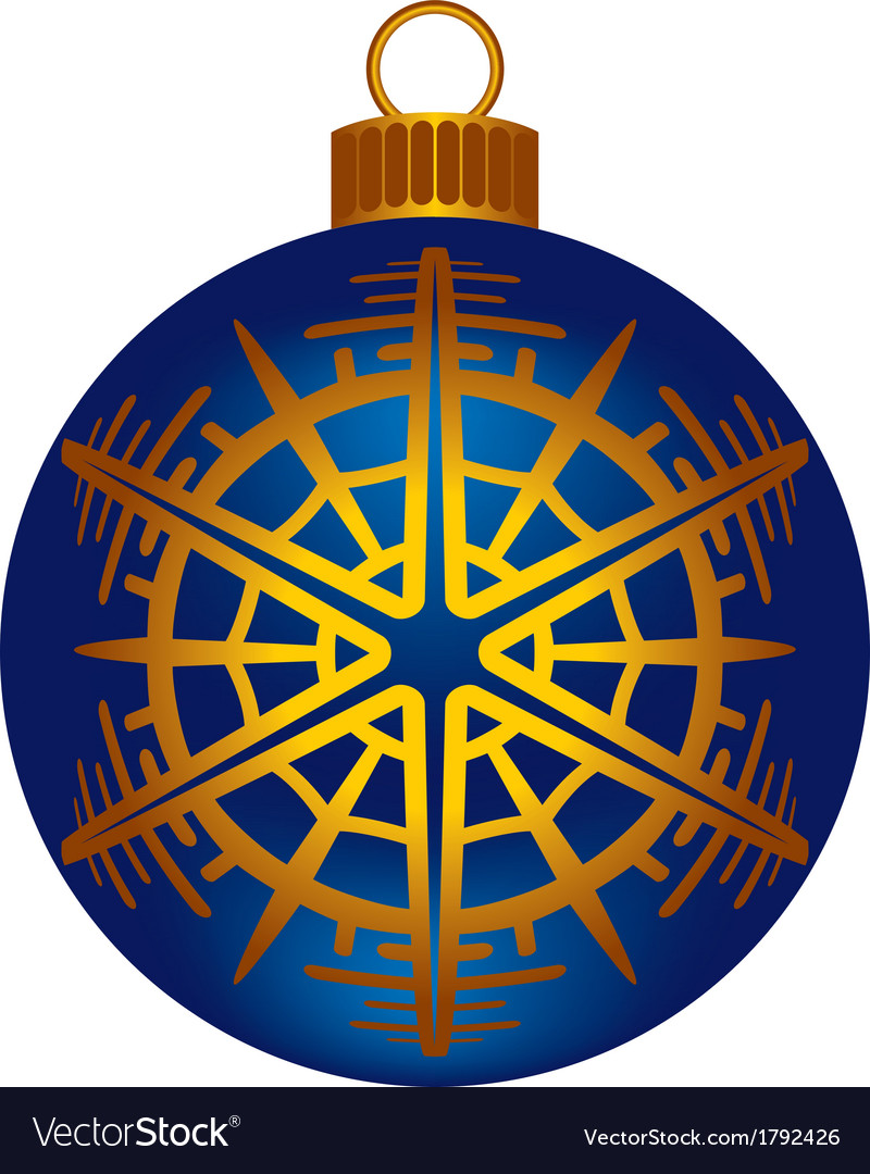 Christmas dark blue ball vector | Price: 1 Credit (USD $1)