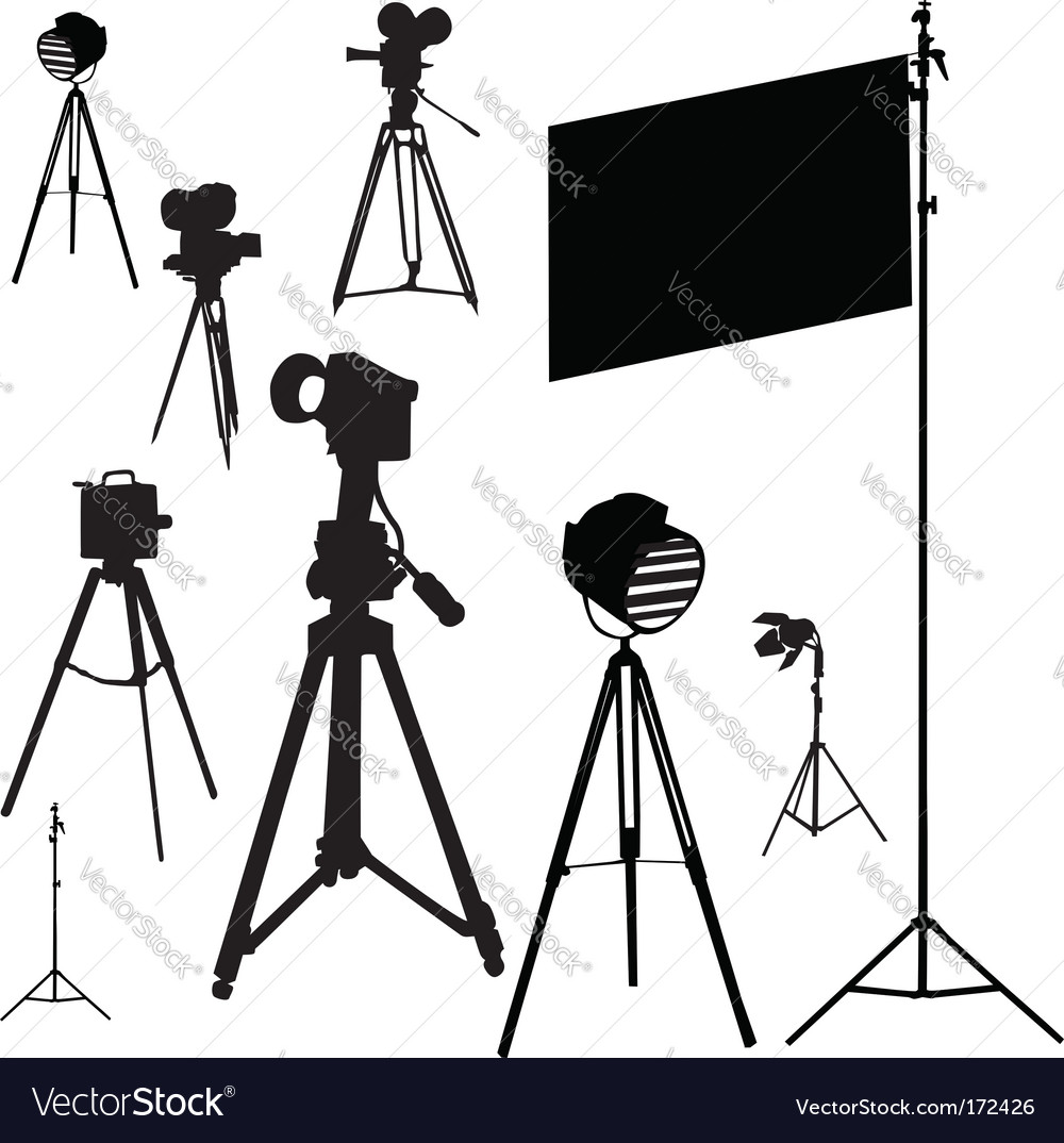 Cinematographic set traced vector | Price: 1 Credit (USD $1)