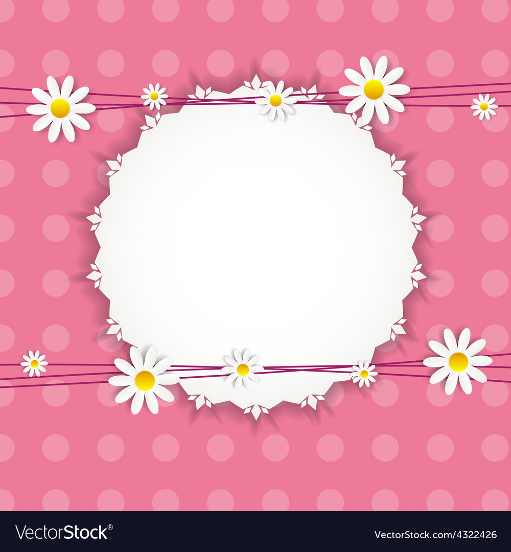 Flora daisy framel design vector | Price: 1 Credit (USD $1)