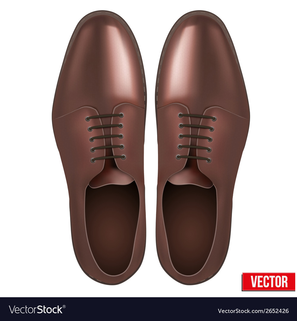 Male fashion classic brown shoes vector | Price: 1 Credit (USD $1)