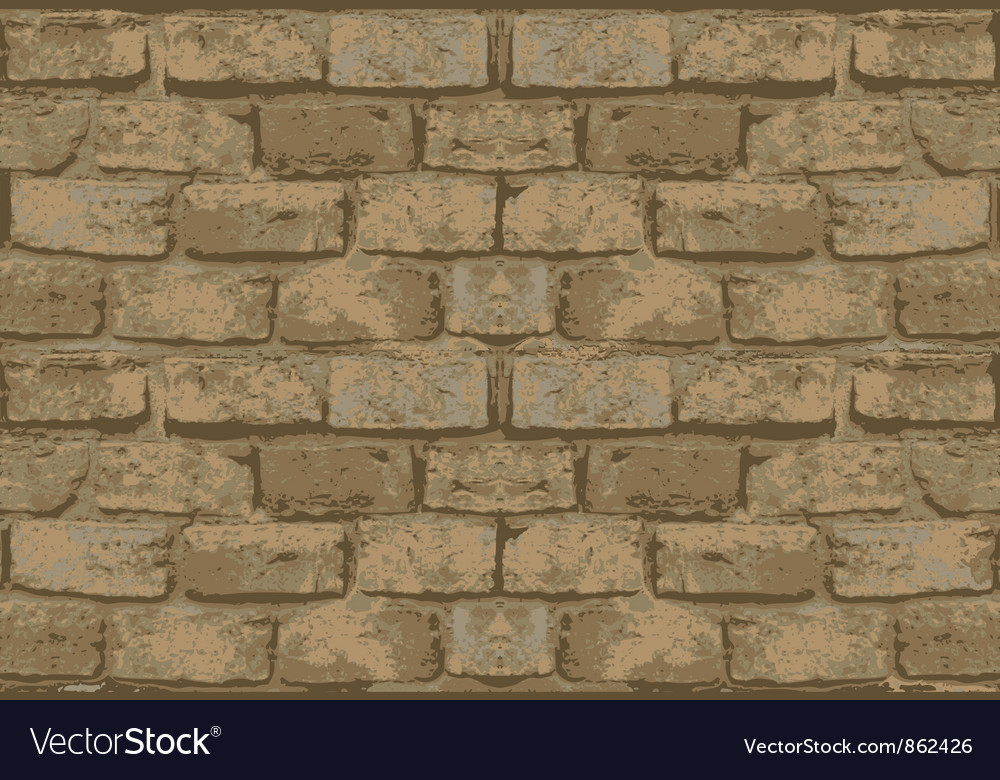 Old brick wall pattern vector | Price: 1 Credit (USD $1)