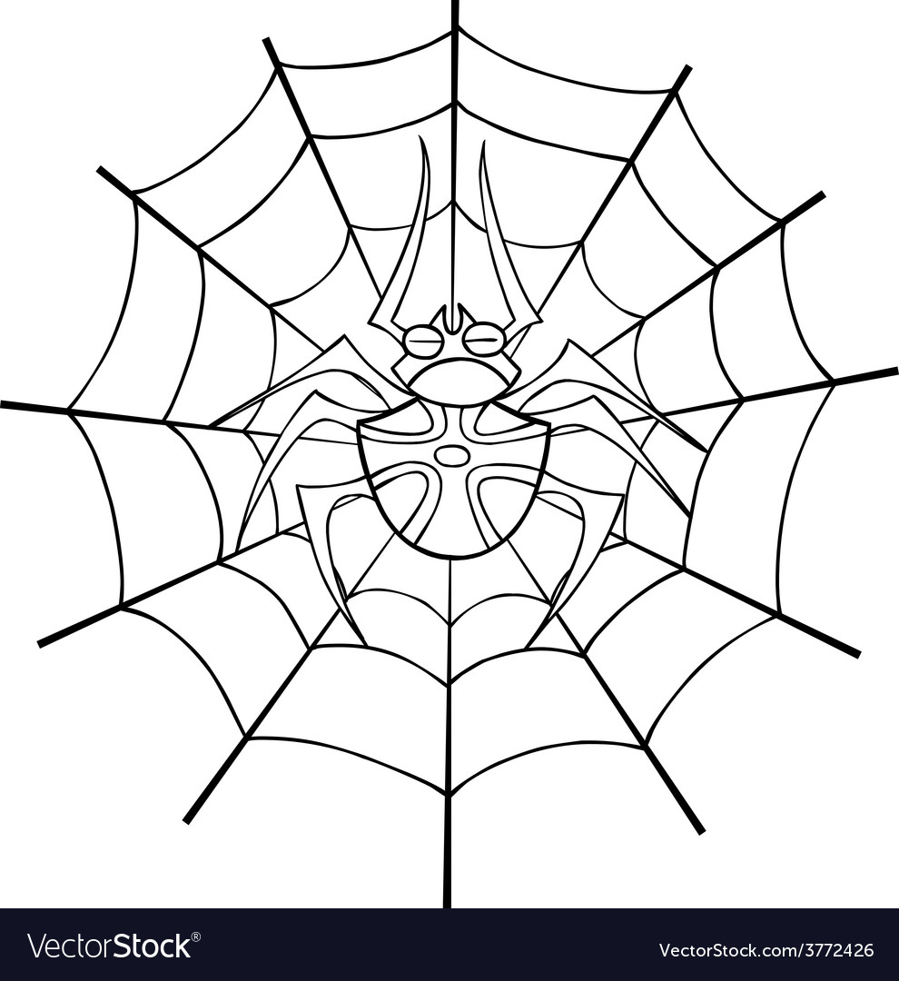 Spider web tattoo outline vector | Price: 1 Credit (USD $1)