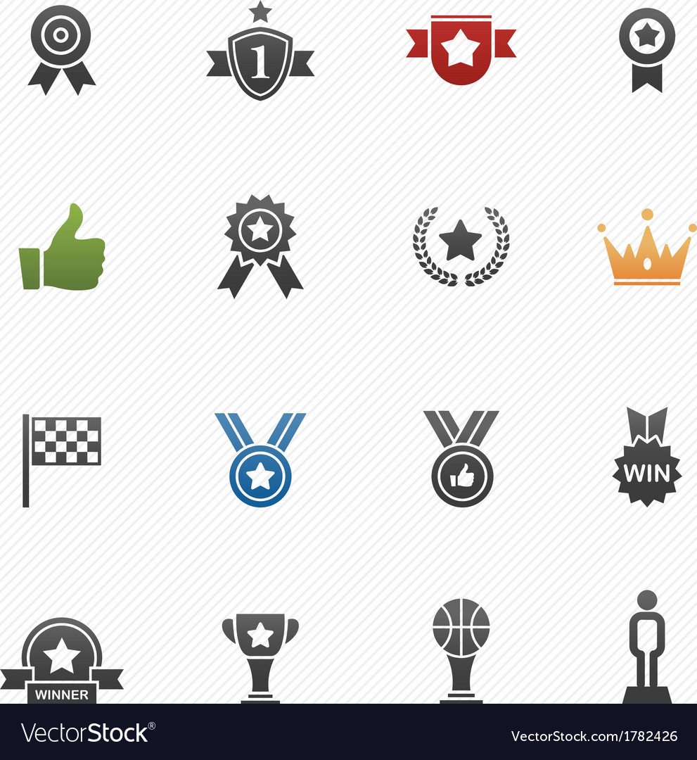 Trophy and prize symbol icons vector | Price: 1 Credit (USD $1)