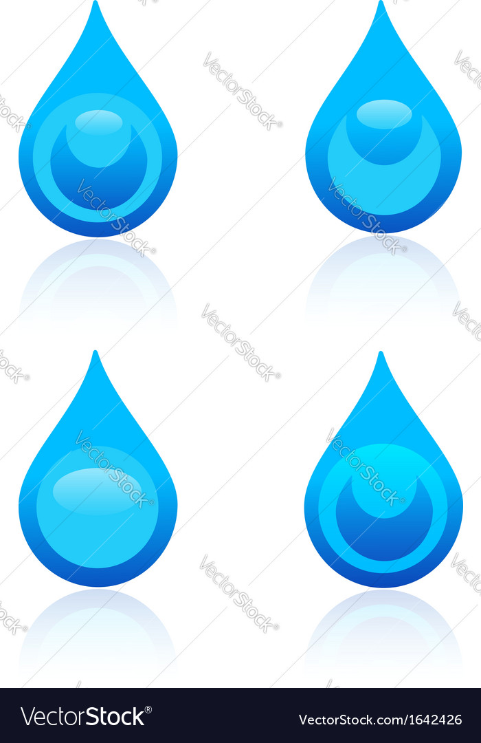 Water drop icons vector | Price: 1 Credit (USD $1)