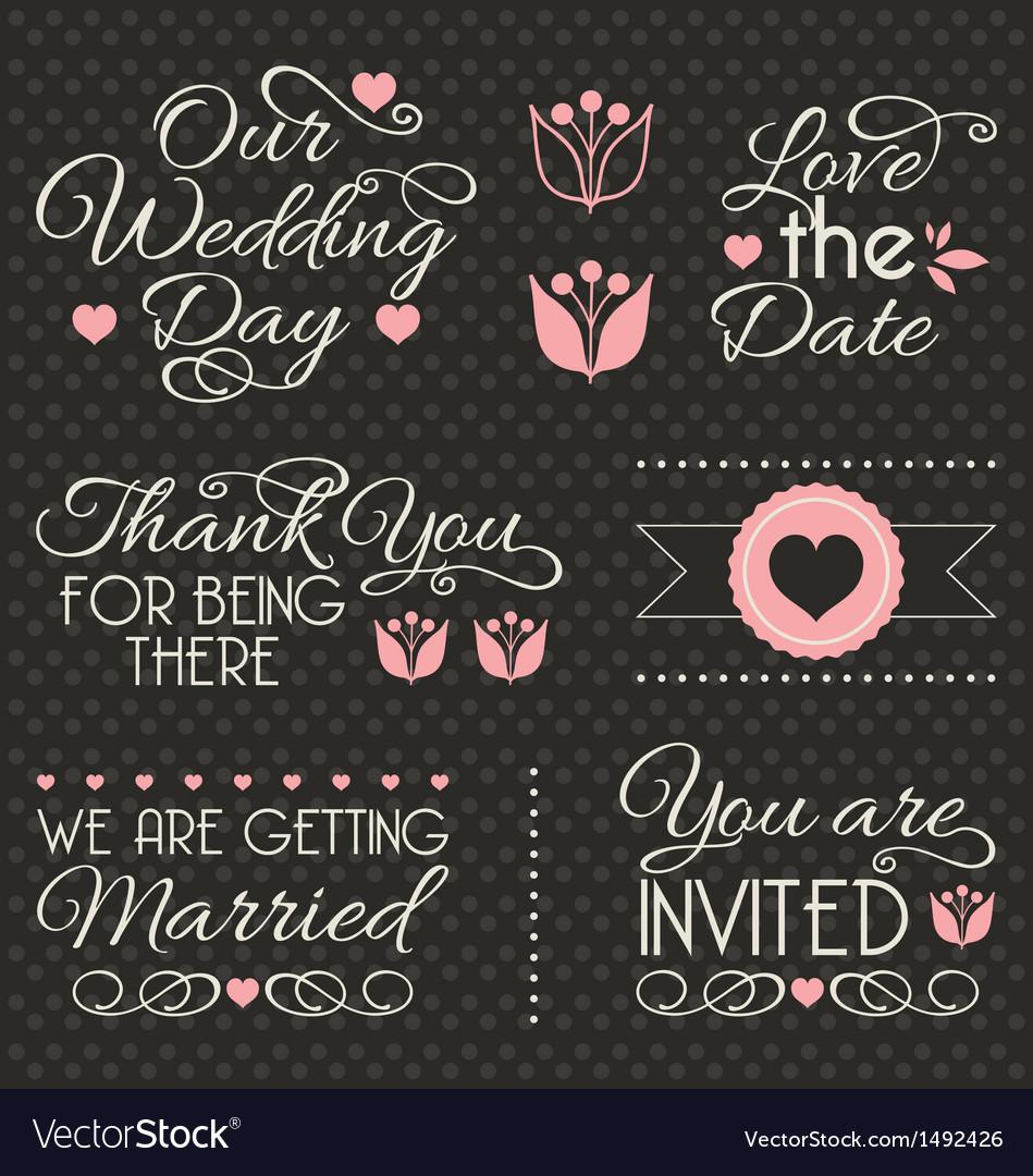 Wedding design elements vector | Price: 1 Credit (USD $1)