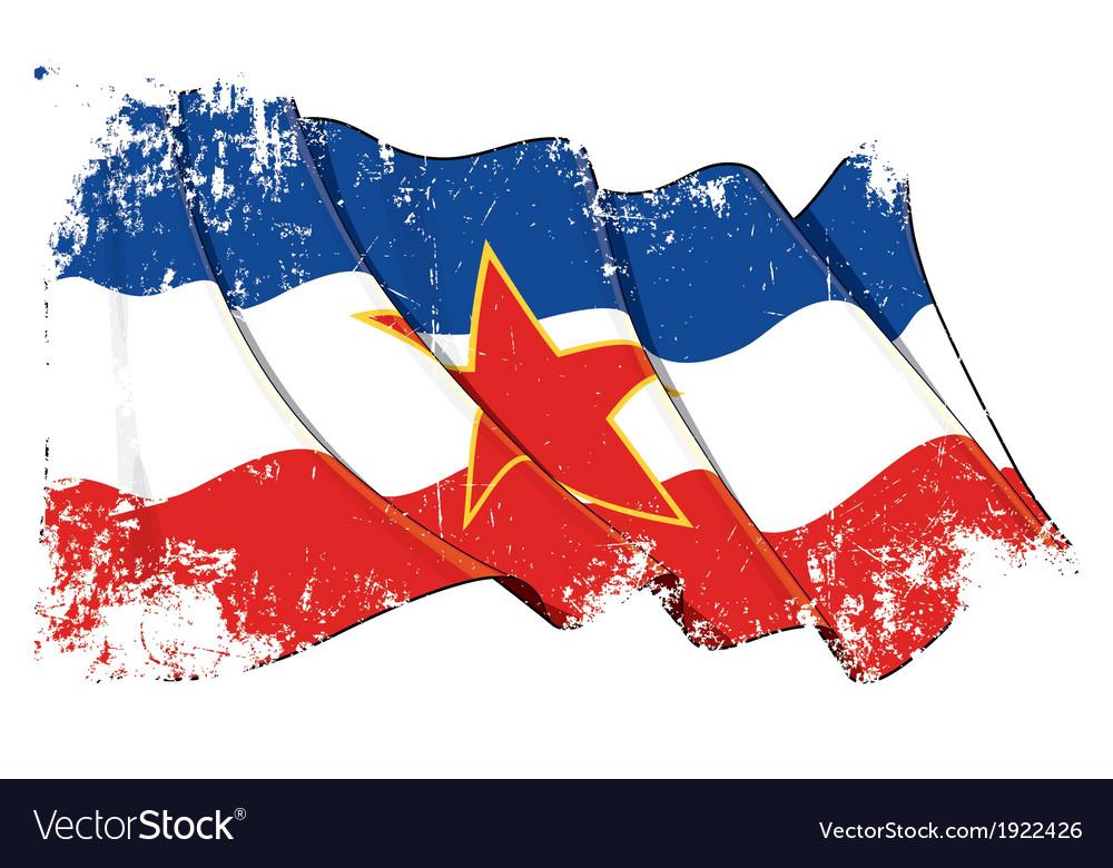 Yugoslavian flag grunge vector   Price: 1 Credit (USD $1)
