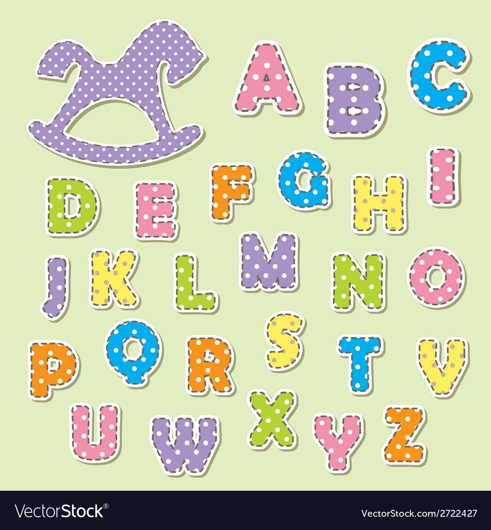 Alphabet letters for kids vector | Price: 1 Credit (USD $1)
