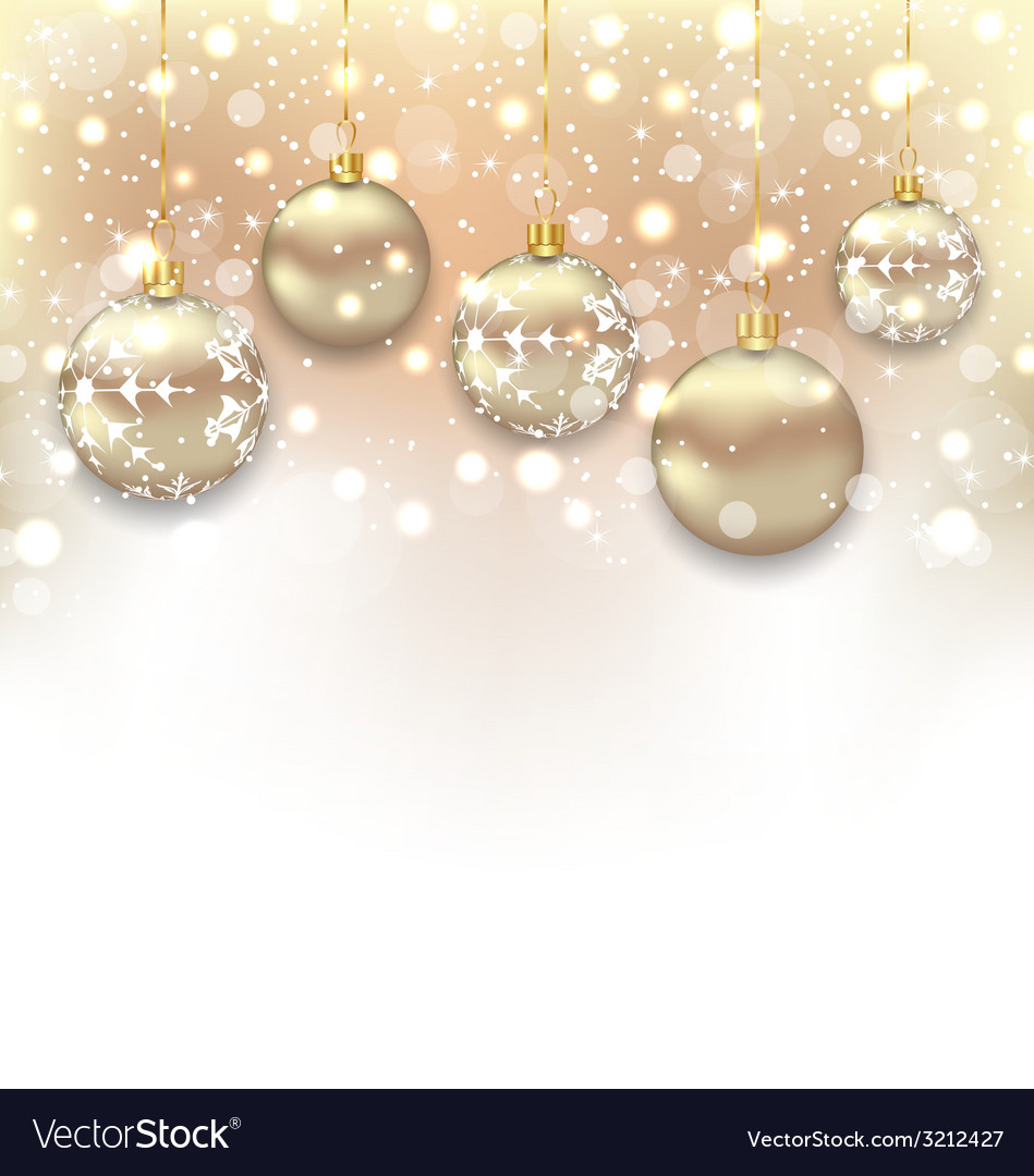 Christmas shimmering background with balls and vector | Price: 1 Credit (USD $1)