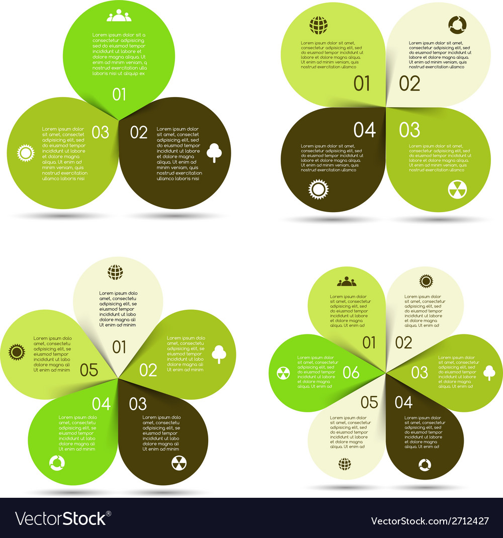 Circle eco infographics set vector | Price: 1 Credit (USD $1)