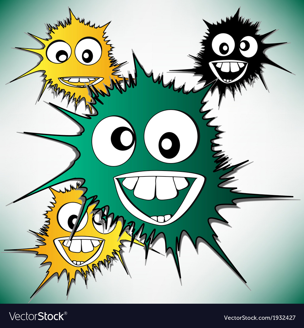 Crazy furry funny face cartoon design background vector | Price: 1 Credit (USD $1)