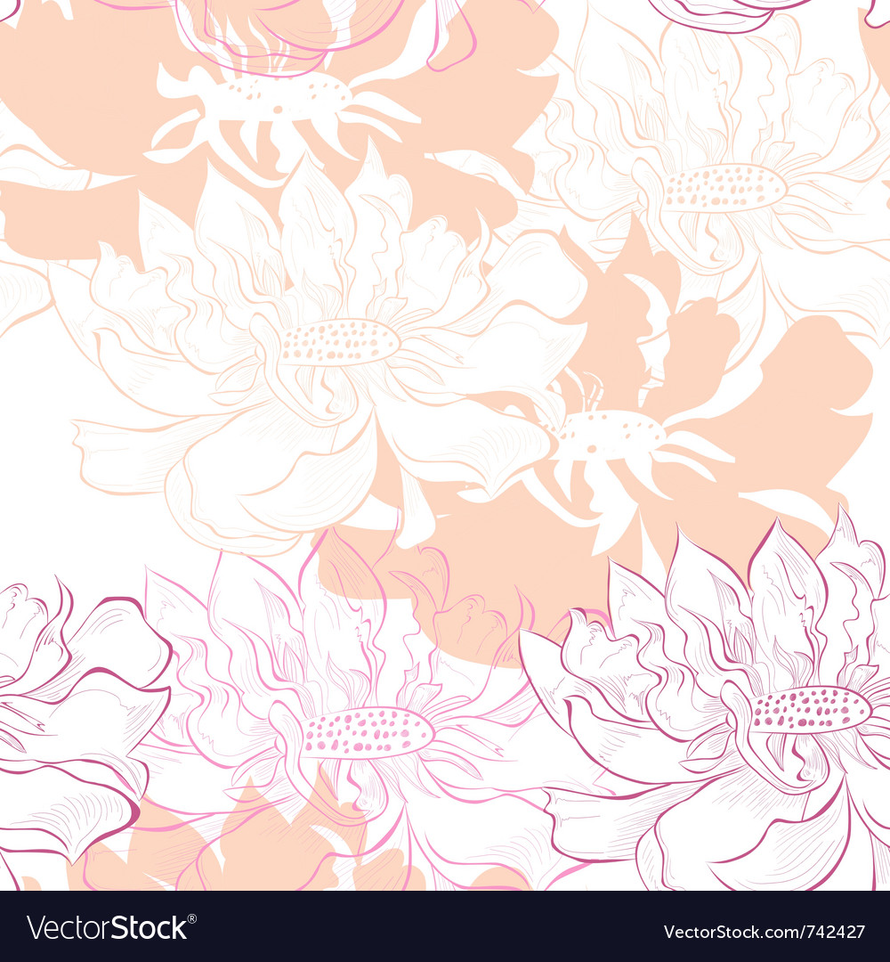 Decorative seamless wallpaper vector | Price: 1 Credit (USD $1)