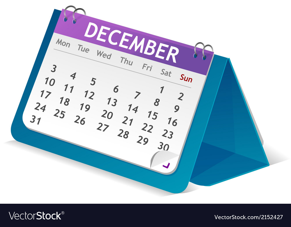Desktop calendar vector | Price: 1 Credit (USD $1)