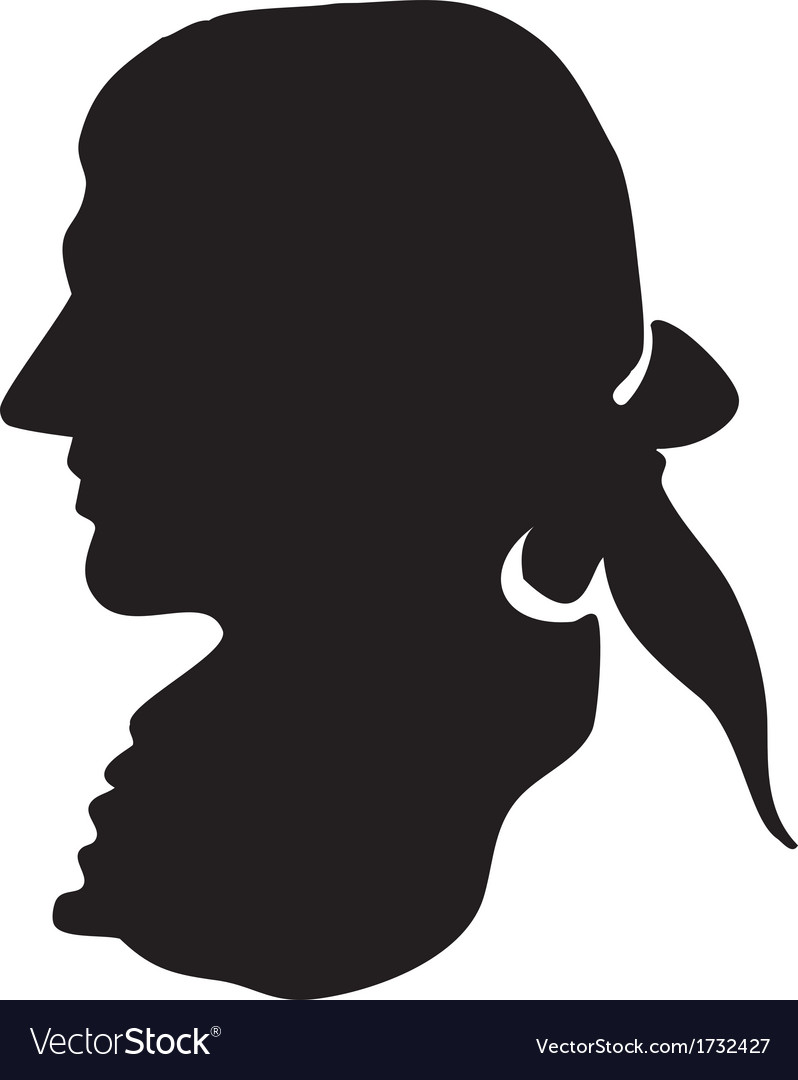 George washington silhouette vector | Price: 1 Credit (USD $1)