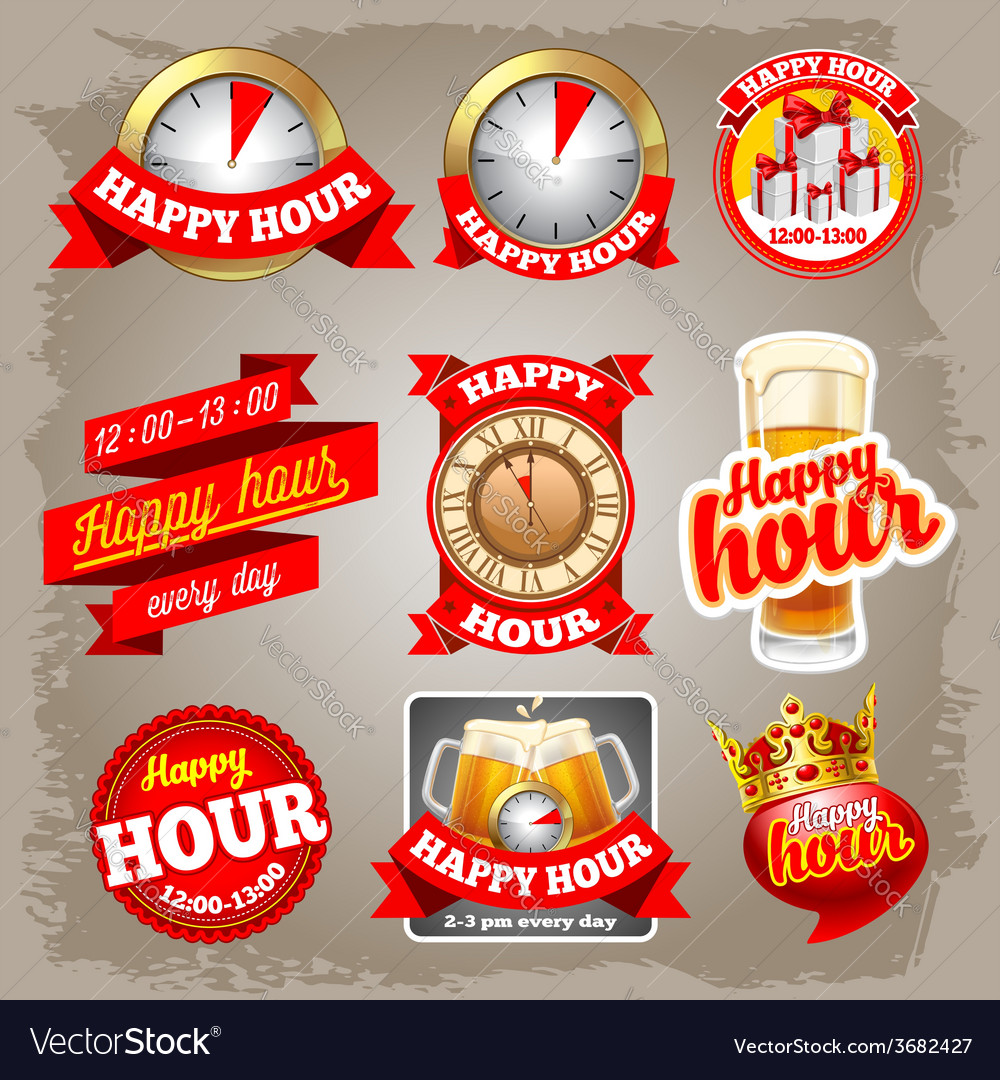 Happy hour vector | Price: 3 Credit (USD $3)