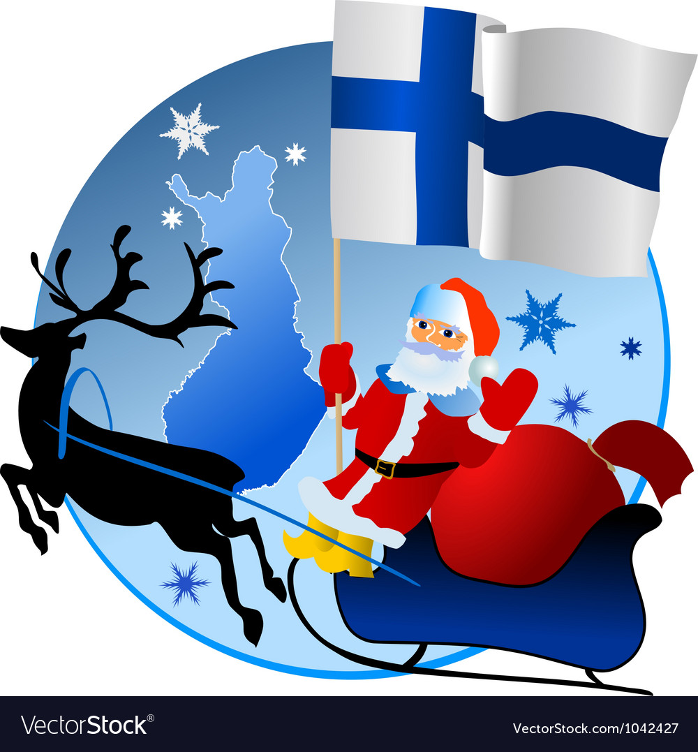 Merry christmas finland vector | Price: 1 Credit (USD $1)