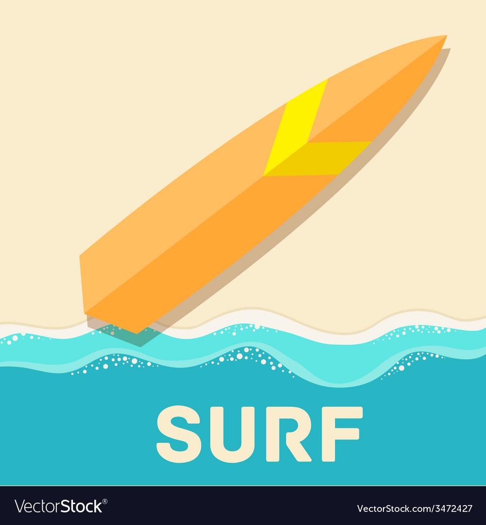 Retro flat surf concept design vector | Price: 1 Credit (USD $1)