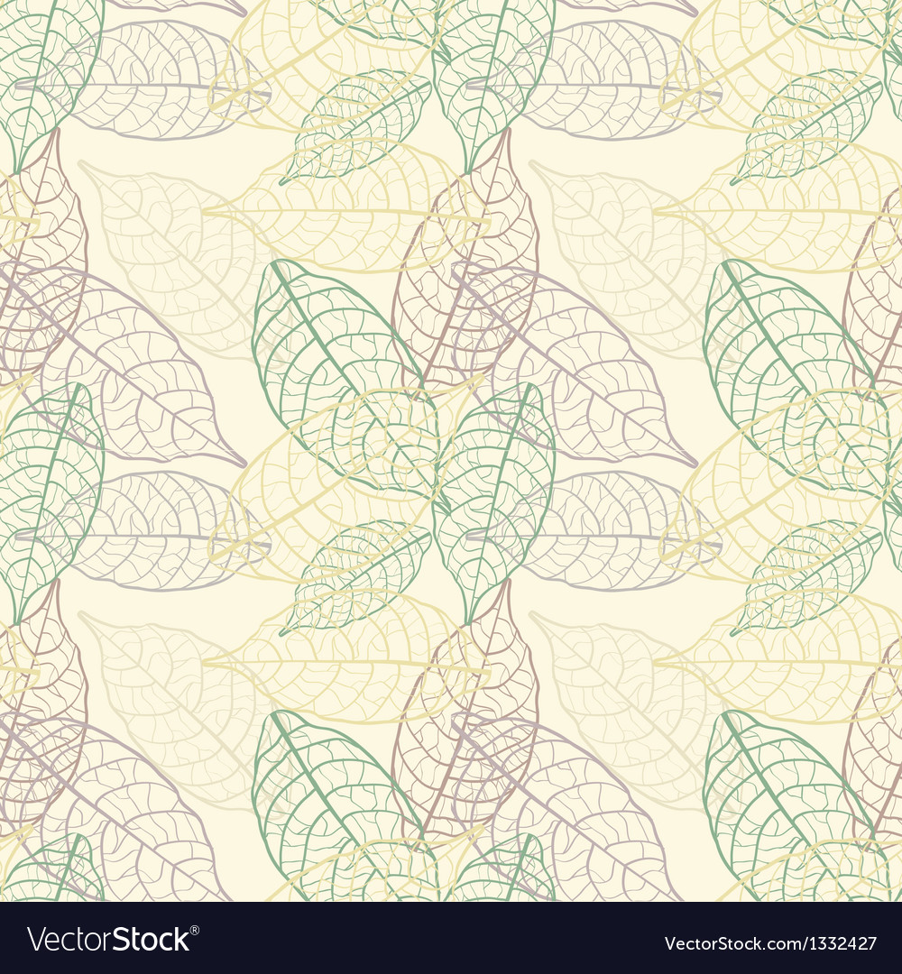Seamless leaves background vector | Price: 1 Credit (USD $1)