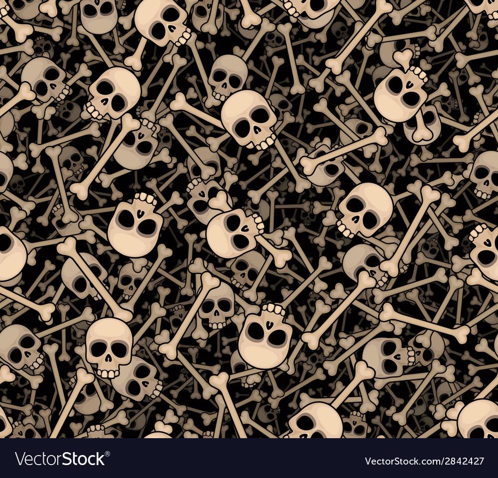 Skulls and bones seamless background vector | Price: 1 Credit (USD $1)