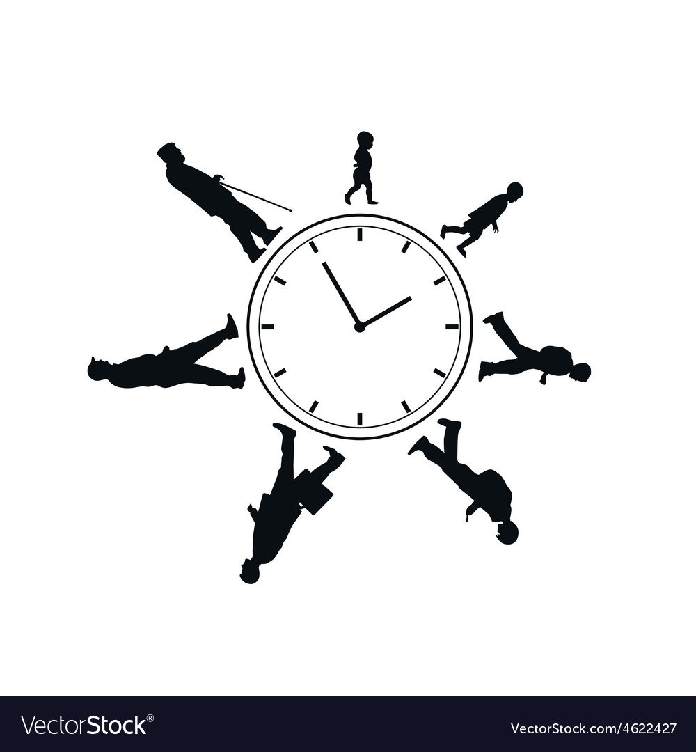 Time passing man from birth till death vector | Price: 1 Credit (USD $1)