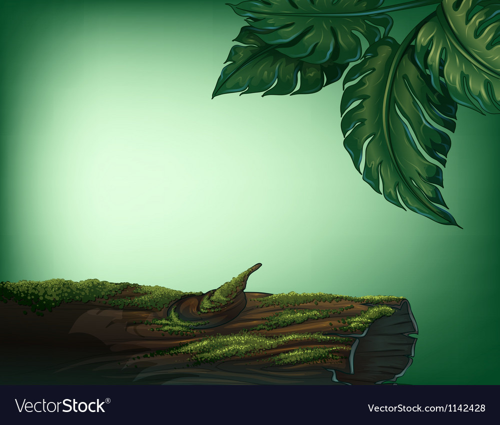 A trunk covered with algae vector | Price: 1 Credit (USD $1)