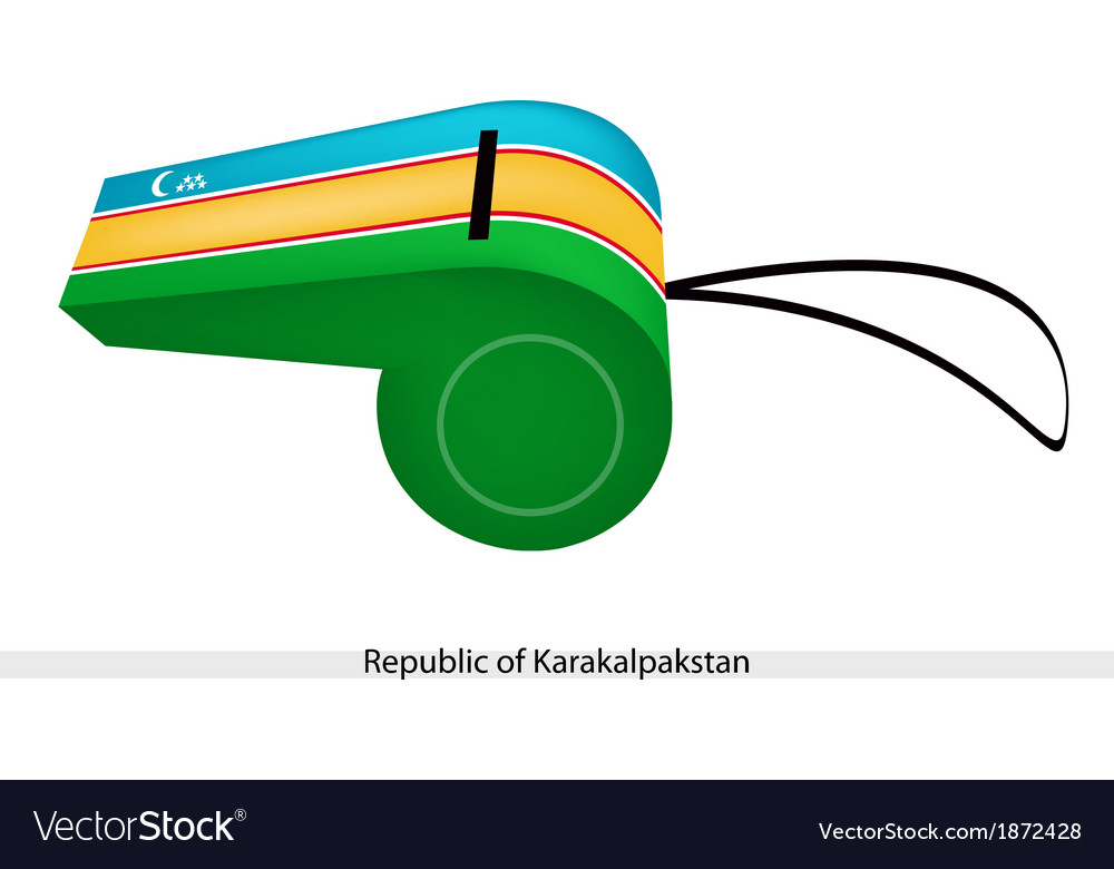 A whistle of the republic of karakalpakstan vector | Price: 1 Credit (USD $1)