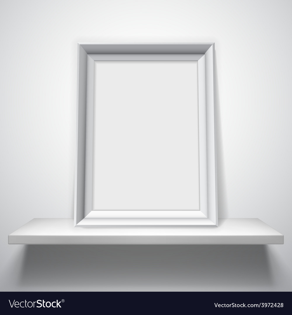 Blank white picture frame vector | Price: 1 Credit (USD $1)