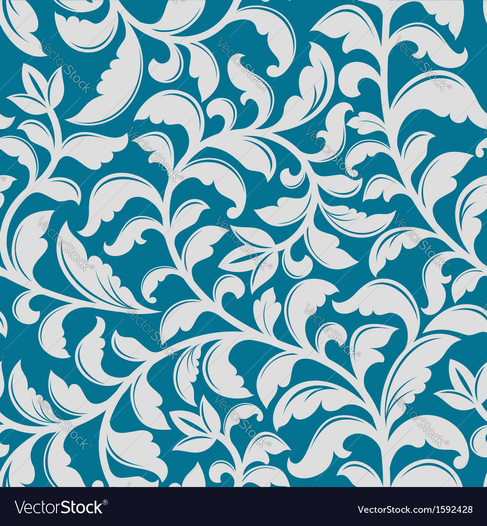 Blue floral pattern vector   Price: 1 Credit (USD $1)