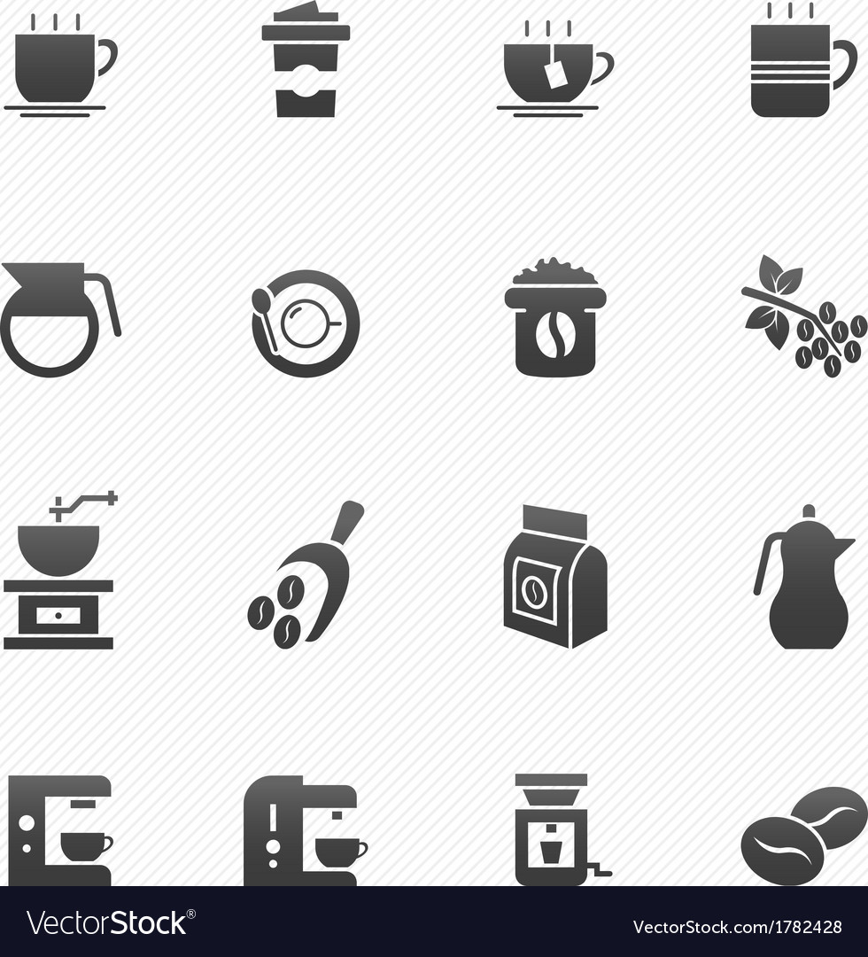 Coffee symbol icons vector | Price: 1 Credit (USD $1)