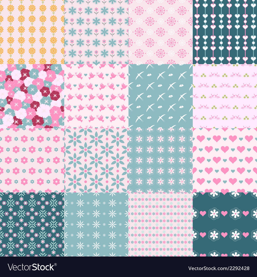 Fashionable seamless patterns vector | Price: 1 Credit (USD $1)