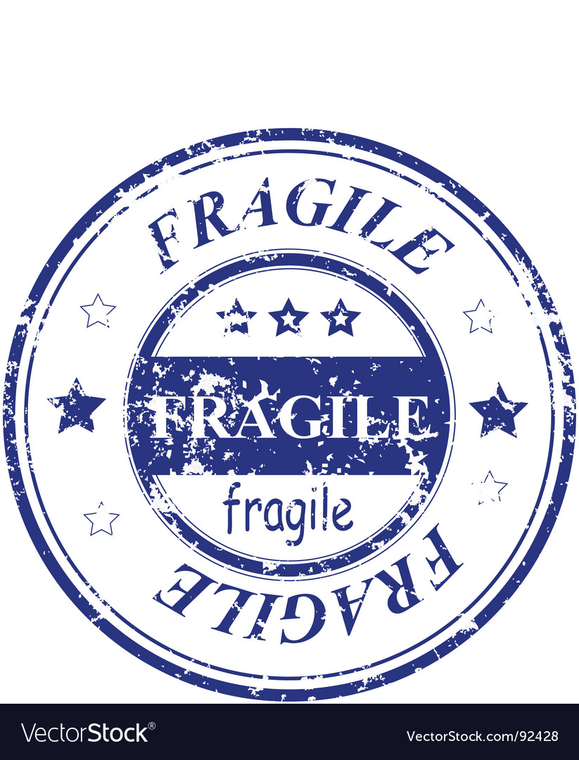 Fragile stamp vector | Price: 1 Credit (USD $1)