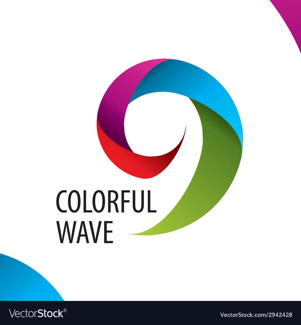 Logo colorful wave of bands vector | Price: 1 Credit (USD $1)