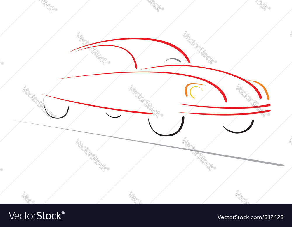 Racing car on road vector | Price: 1 Credit (USD $1)