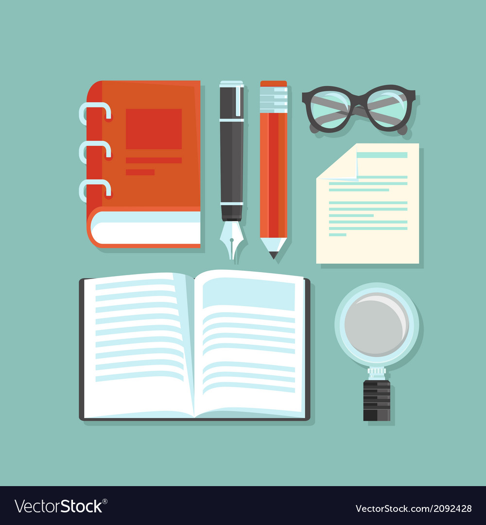 Reading and education concept vector | Price: 1 Credit (USD $1)