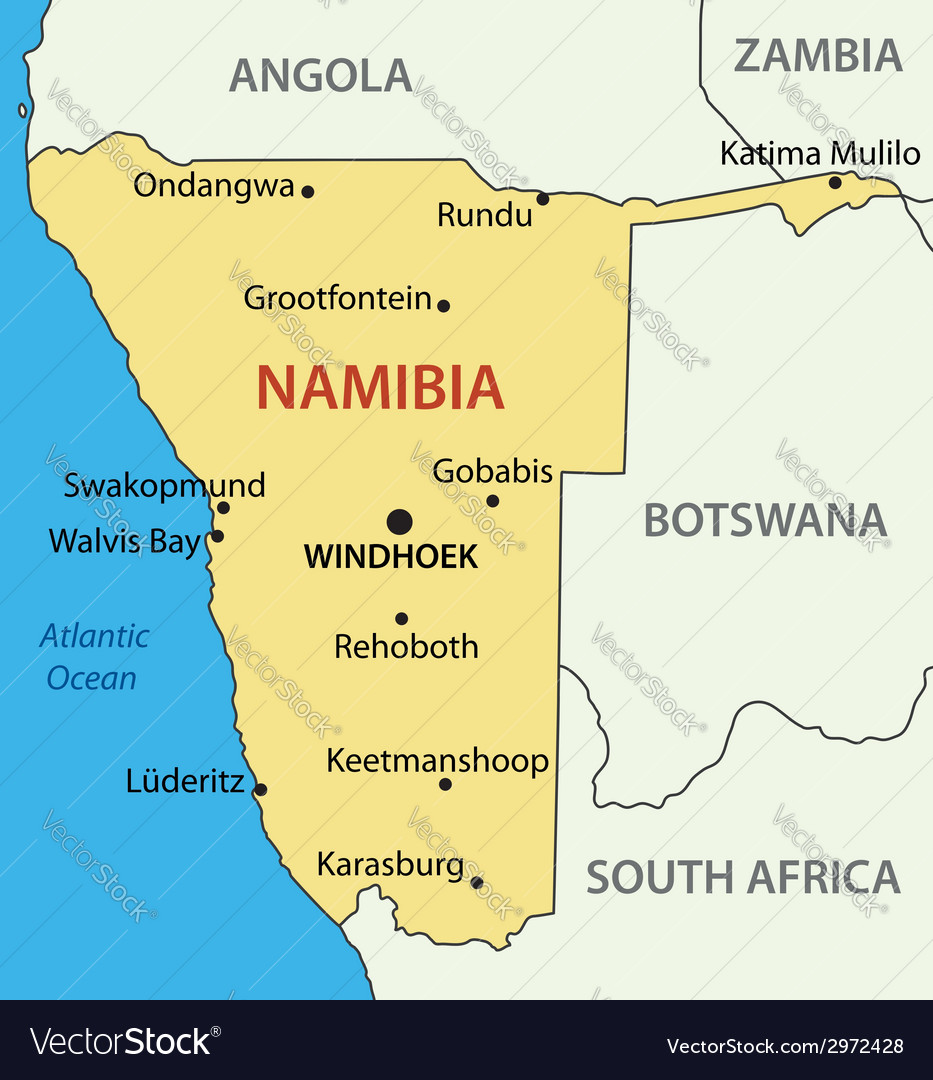 Republic of namibia - map vector   Price: 1 Credit (USD $1)