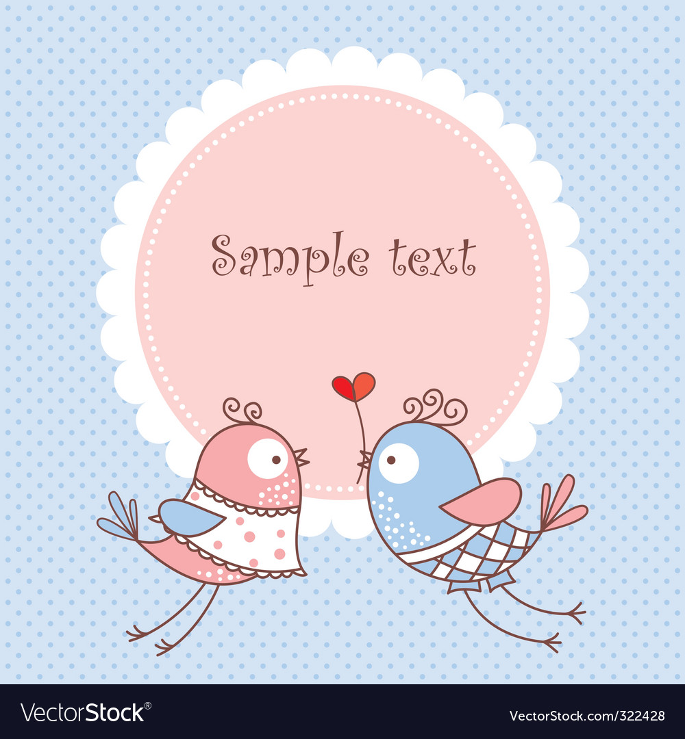 Romantic card vector | Price: 1 Credit (USD $1)
