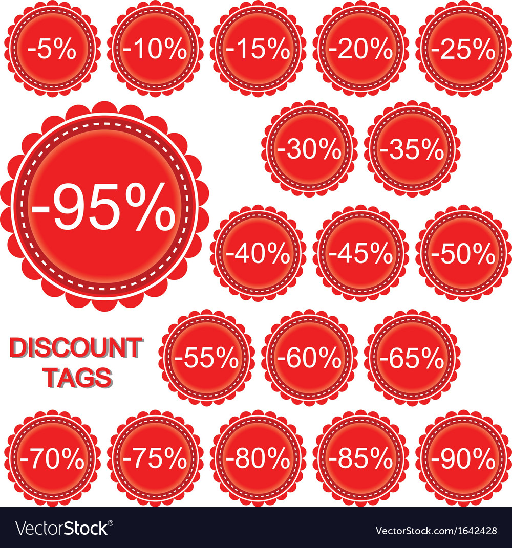Set of discount tags vector | Price: 1 Credit (USD $1)