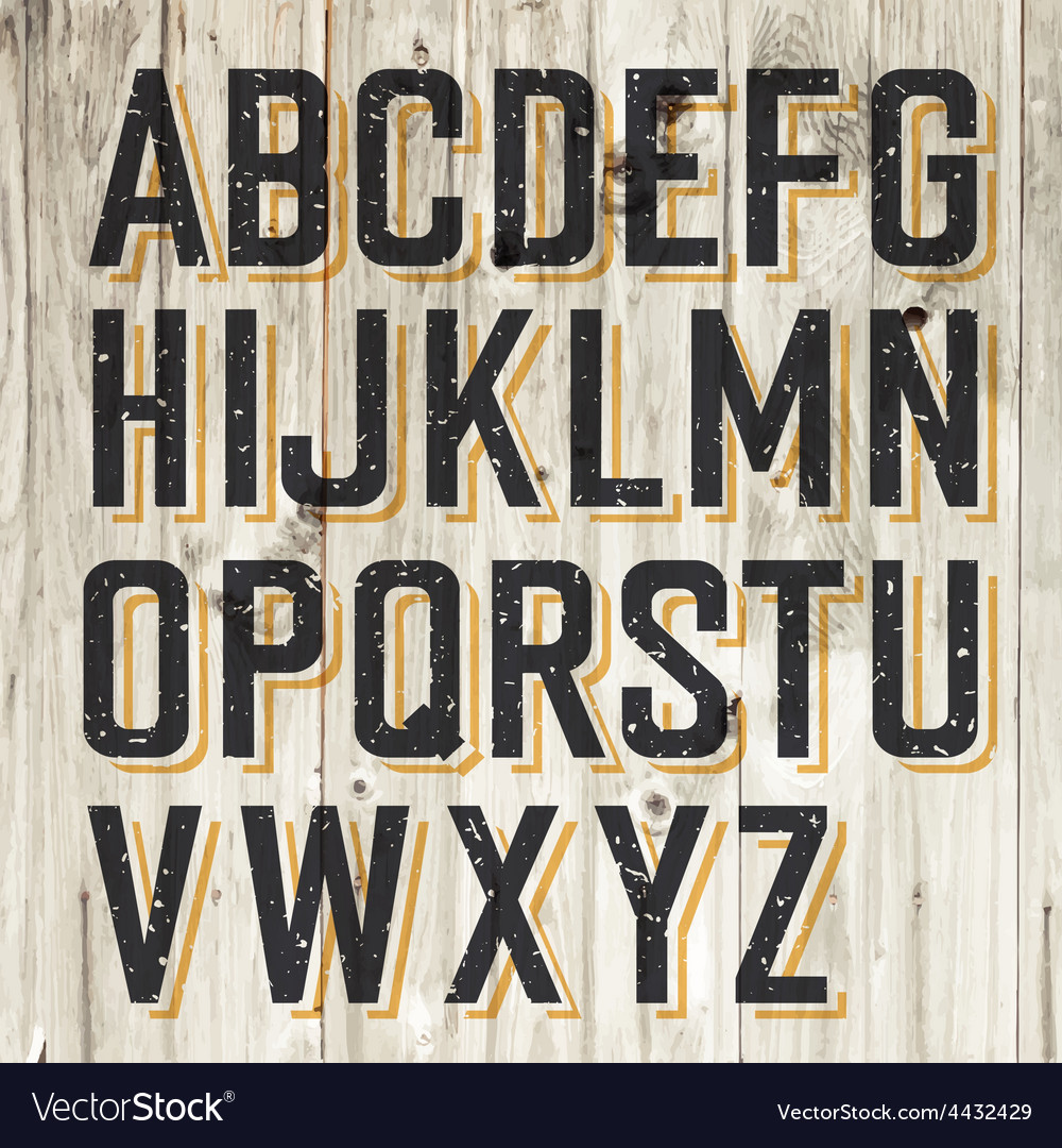 Alphabet on wooden vector | Price: 1 Credit (USD $1)