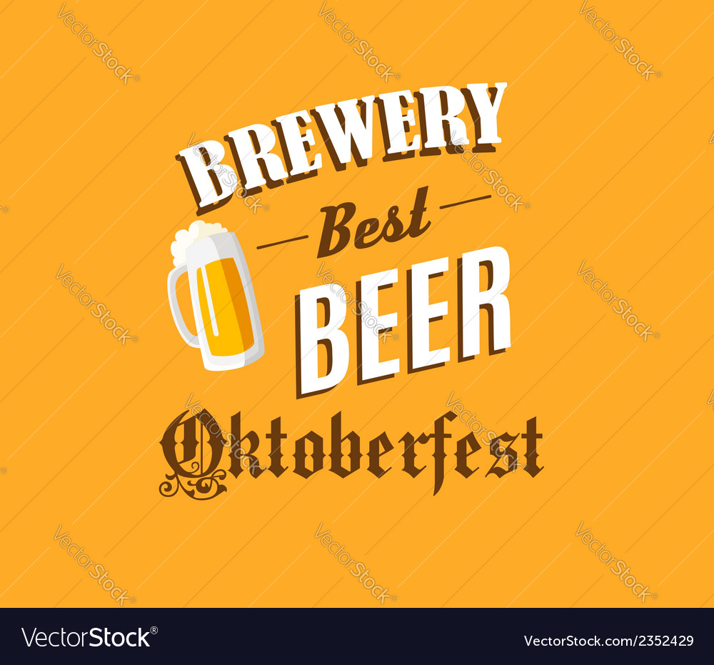 Brewery and beer banner vector | Price: 1 Credit (USD $1)