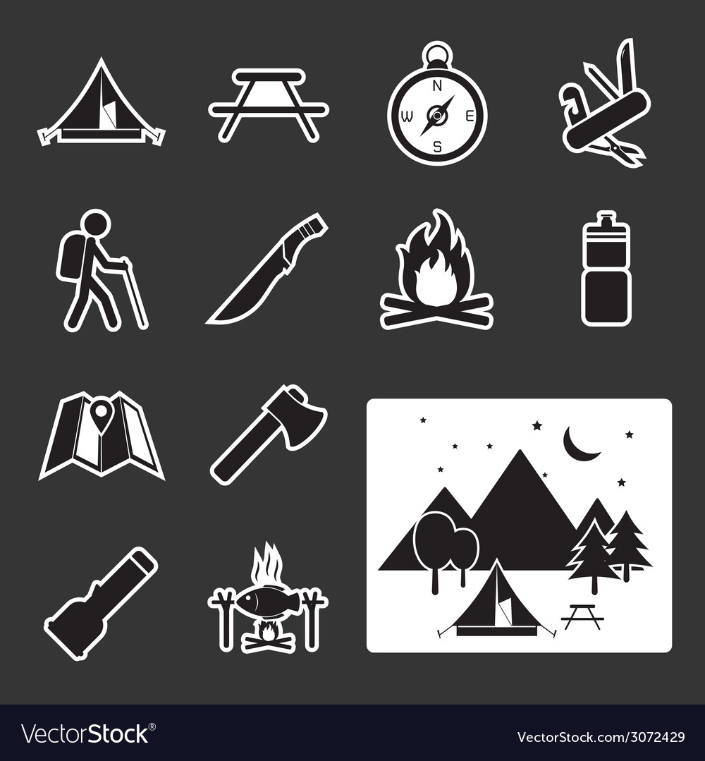 Camping equipment icon vector | Price: 1 Credit (USD $1)