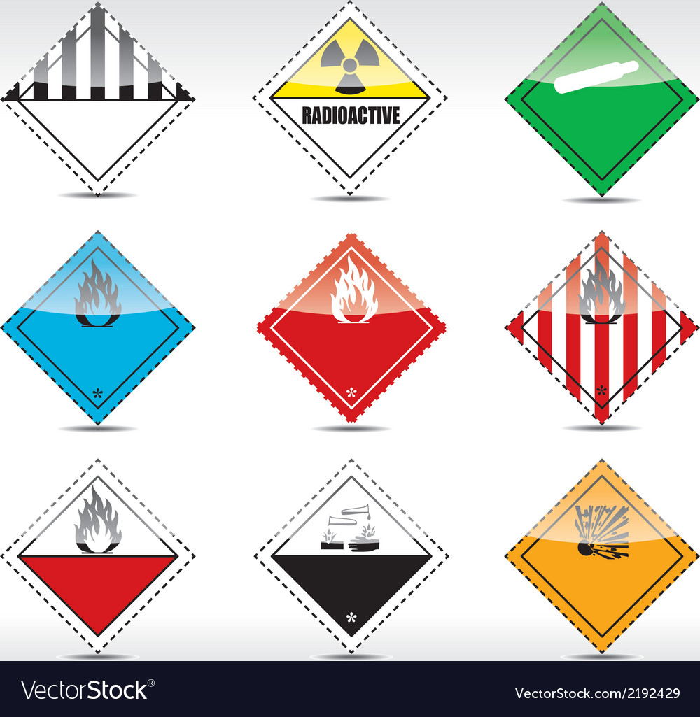 Danger symbols vector | Price: 1 Credit (USD $1)