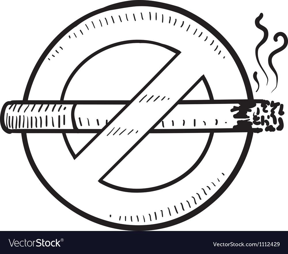 Doodle smoking no vector | Price: 1 Credit (USD $1)