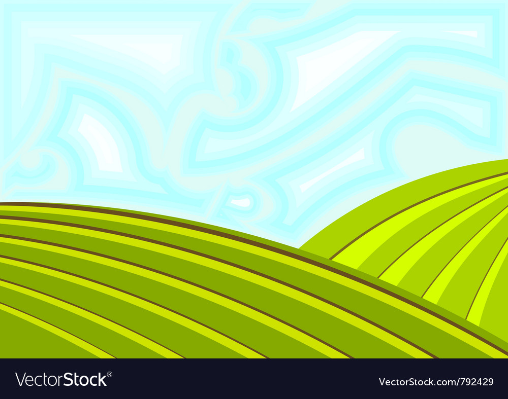 Field and sky vector | Price: 1 Credit (USD $1)