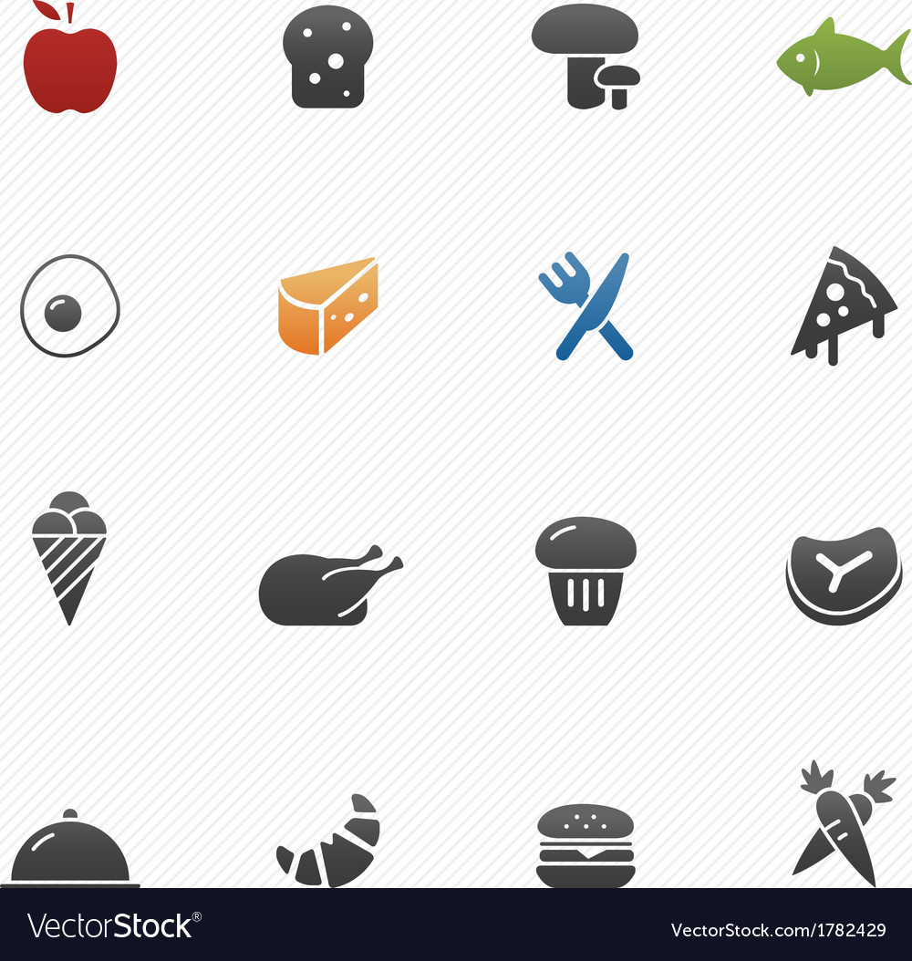 Food symbol icons vector | Price: 1 Credit (USD $1)